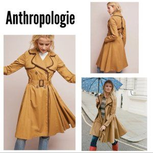 HTF ANTHROPOLOGIE ett:twa Marley Trench Coat sz 10